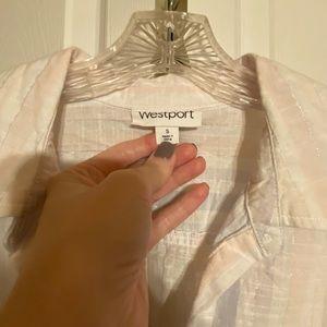 Westport Tops - Linen Button up Tie up shirt
